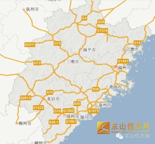 g15沈海高速福建段服务区/出入口 沈海高速福建段方向